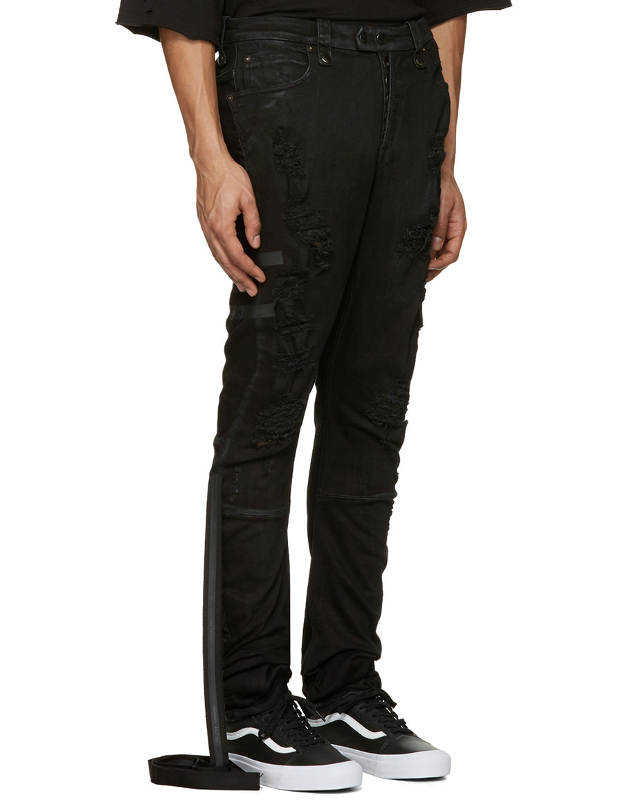 UNRAVEL Black Distorted Jeans