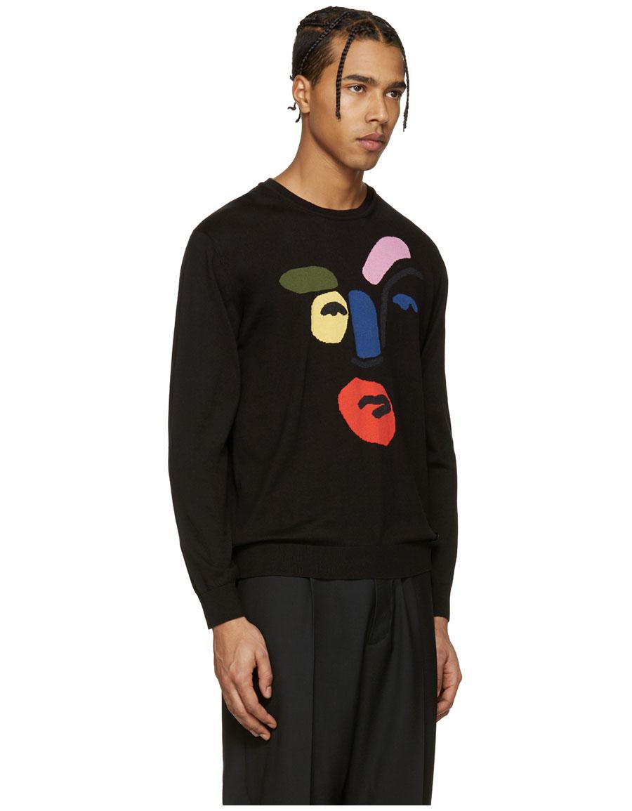 FENDI Black Picasso John Boots Face Pullover