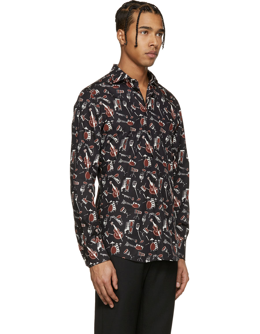 DOLCE & GABBANA Black Instrument Shirt