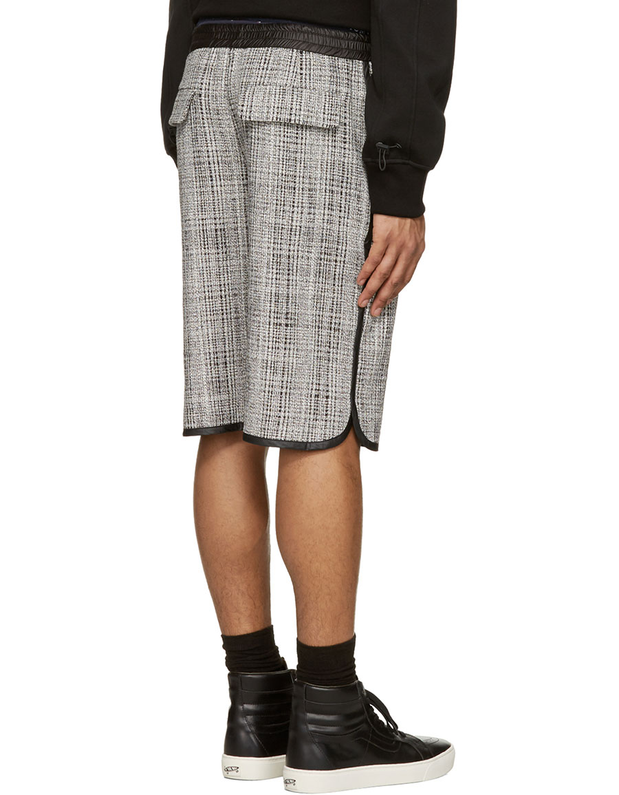 PUBLIC SCHOOL Black & White Tweed Shorts