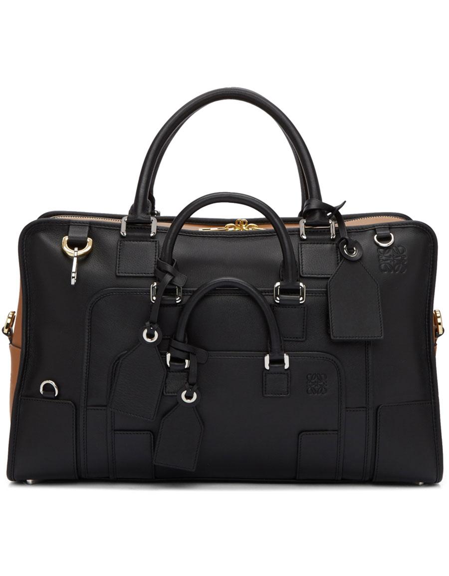 LOEWE Black & Tan Amazona Multiplication 44 Bag