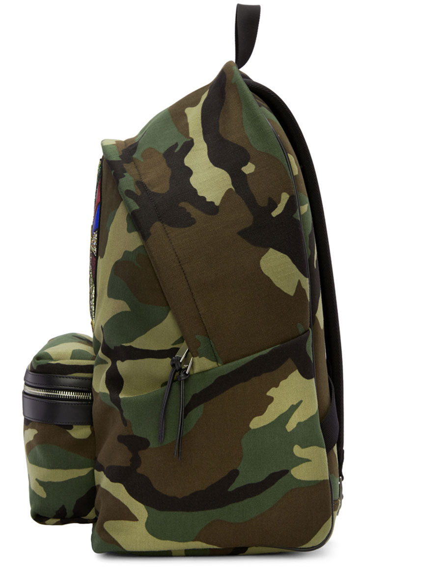 5a48e8ee0753 SAINT LAURENT Green Camouflage Sweet Dreams Giant City Backpack