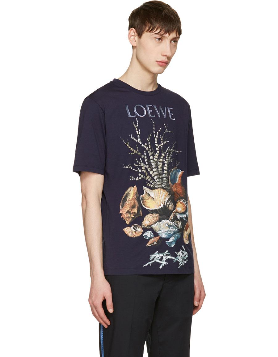 LOEWE Indigo Shell Still Life T Shirt