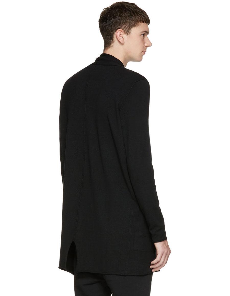 ISABEL BENENATO Black Zip Up Cardigan