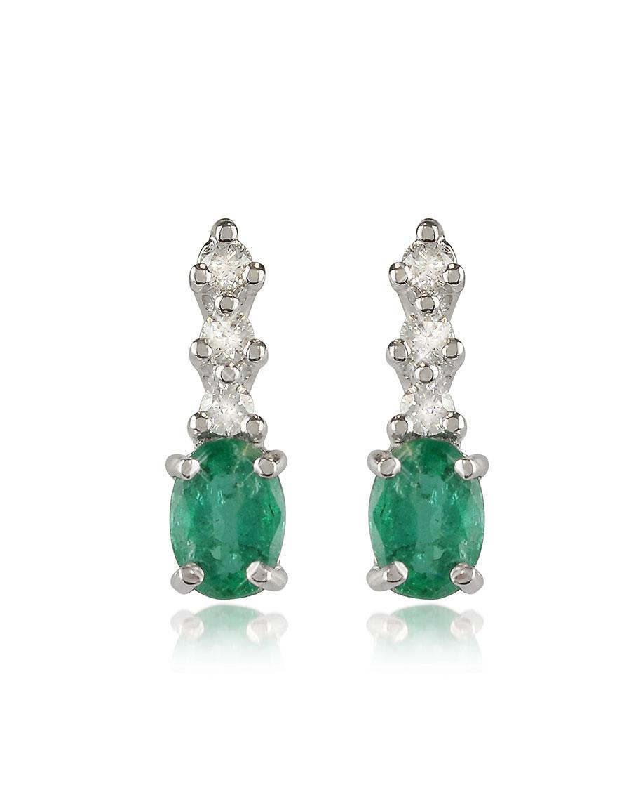 INCANTO ROYALE Emerald and Diamond 18K Gold Drop Earrings