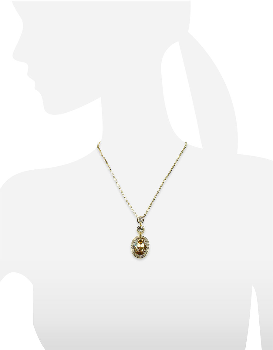 AZ COLLECTION Gold plated Triple Drop Necklace