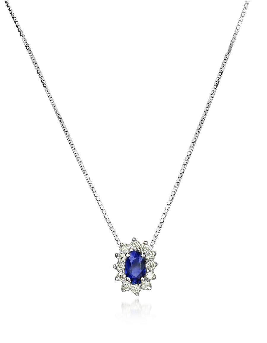 INCANTO ROYALE Diamond and Sapphire Drop 18K Gold Necklace