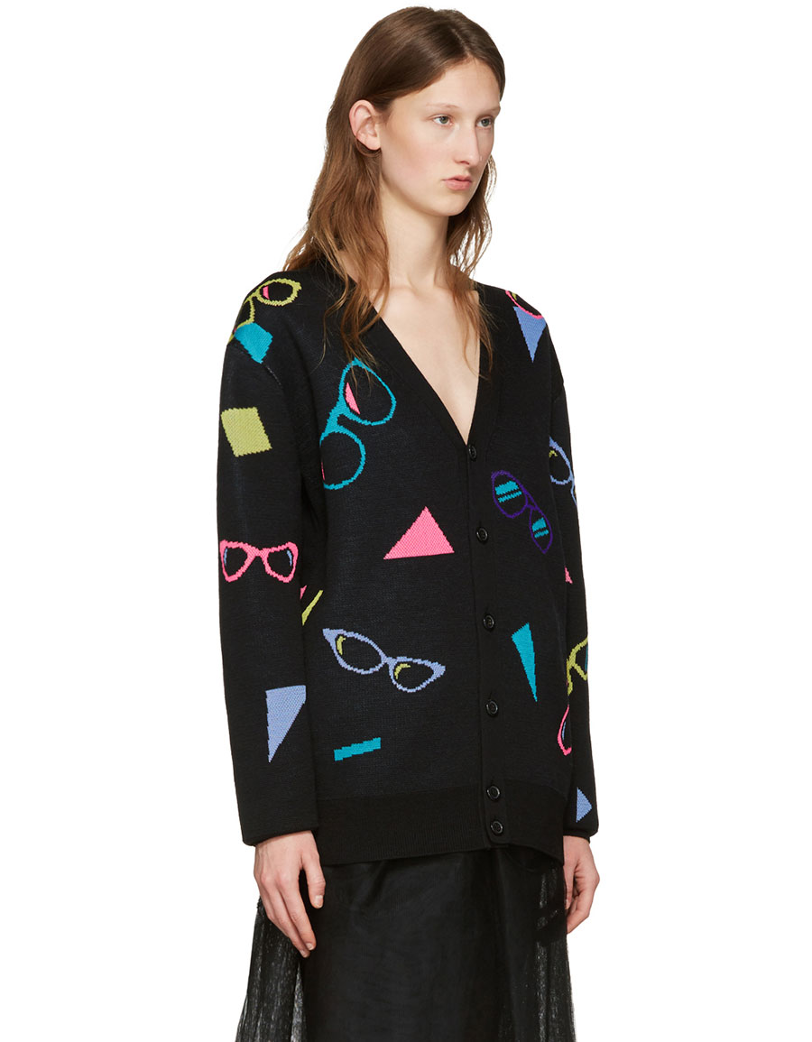 MARC JACOBS Black Sunglasses Cardigan