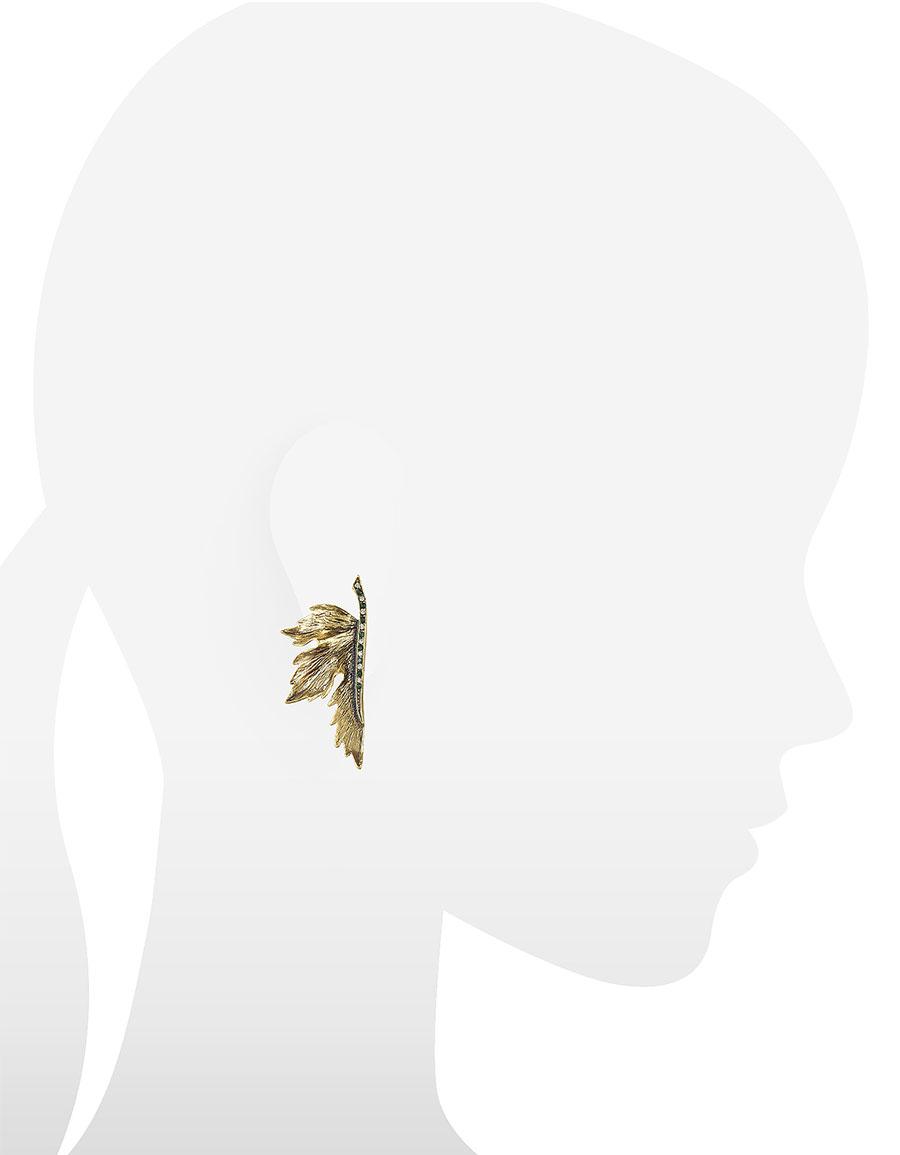 ALCOZER & J Nymph Goldtone Brass Earrings
