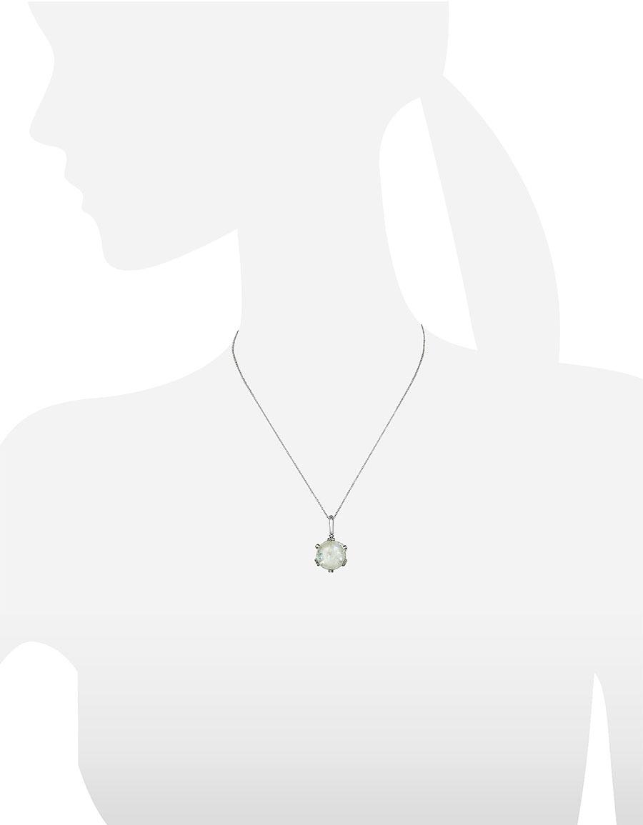 MIA & BEVERLY Spectrolite and Diamond 18K Gold Charm Necklace
