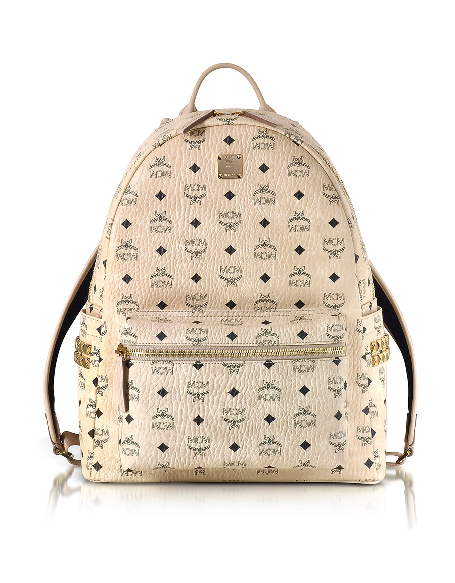 MCM Beige Medium Stark Backpack