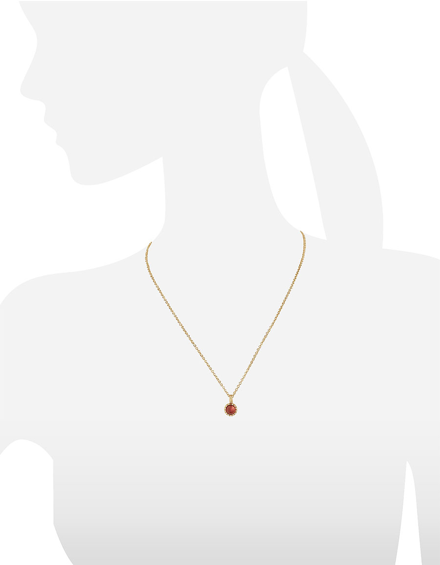 MIA & BEVERLY Garnet and Diamond 18K Rose Gold Charm Necklace