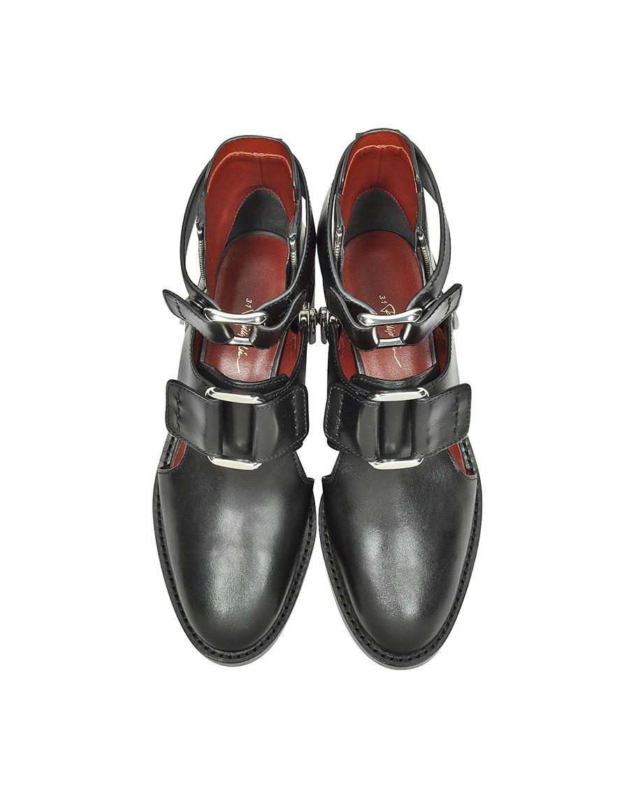 3.1 PHILLIP LIM Black Leather Addis Cut Out Boot