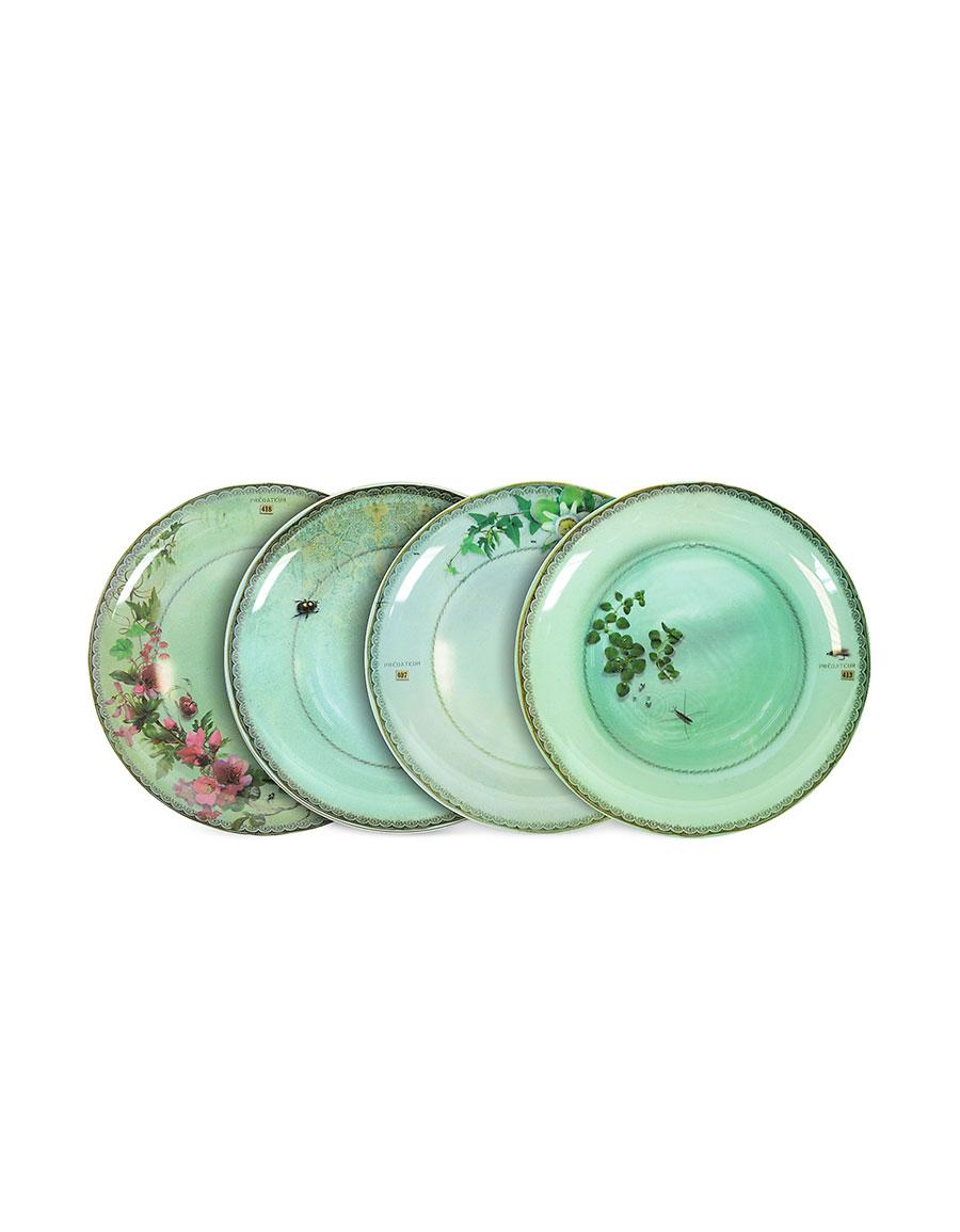 IBRIDE Yuan Gray Set of 4 Extra Plates