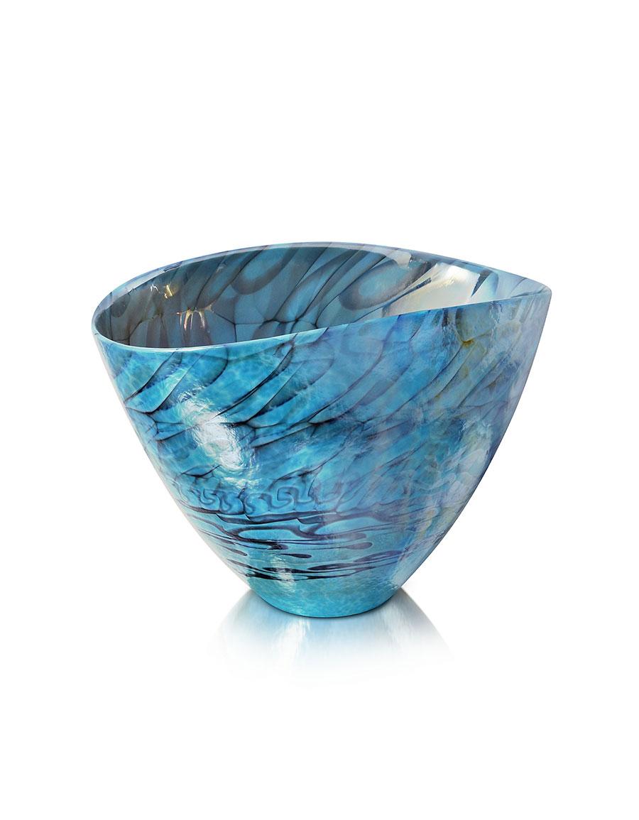 YALOS MURANO Belus Turquoise Murano Glass Vase