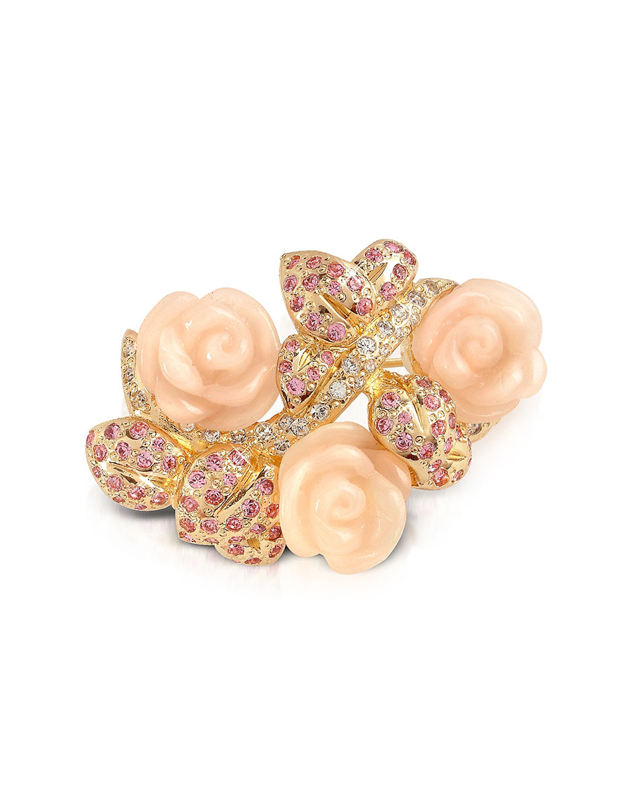 AZ COLLECTION Pink Roses Brooch