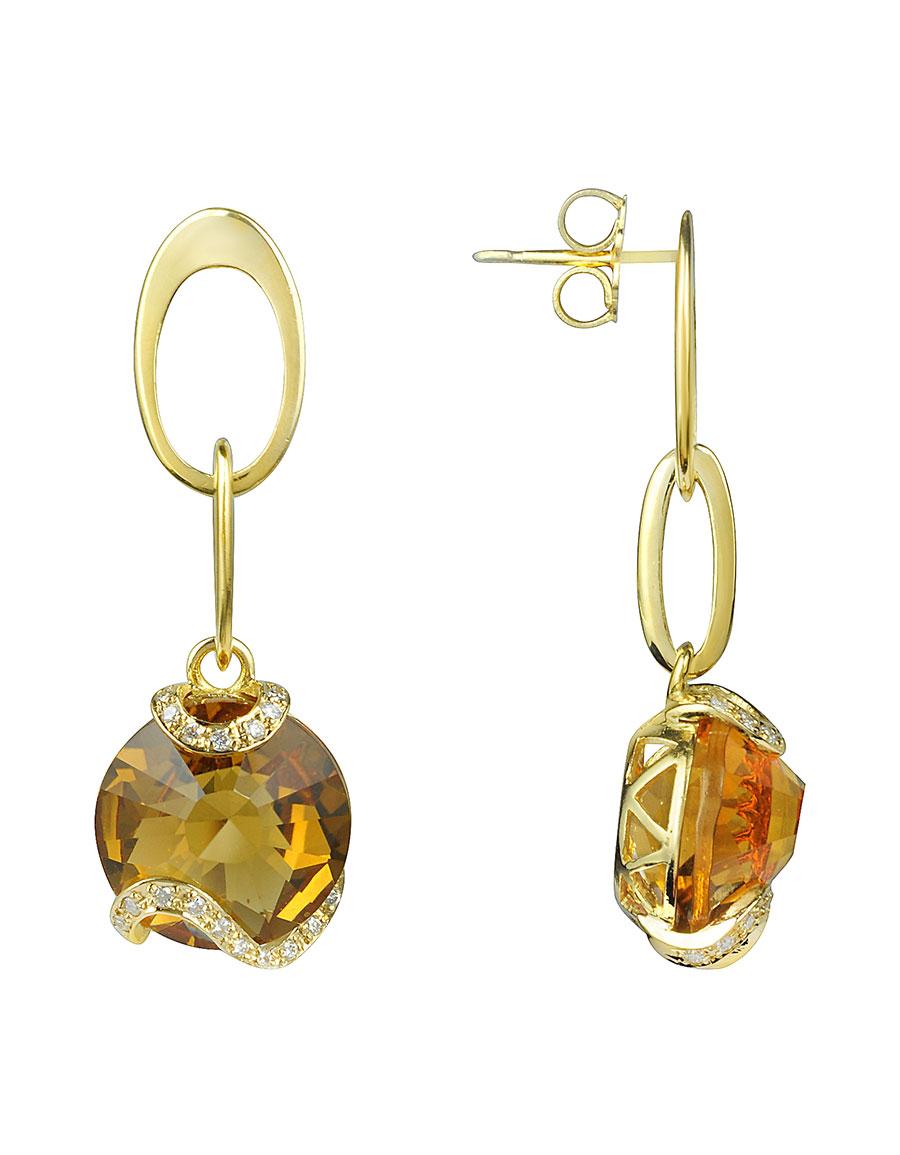 INCANTO ROYALE Citrine and Diamond 18K Gold Earrings