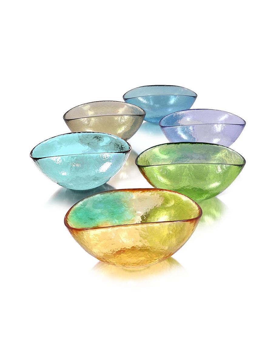 YALOS MURANO Happy Fruit 6 Colored Murano Glass Bowls