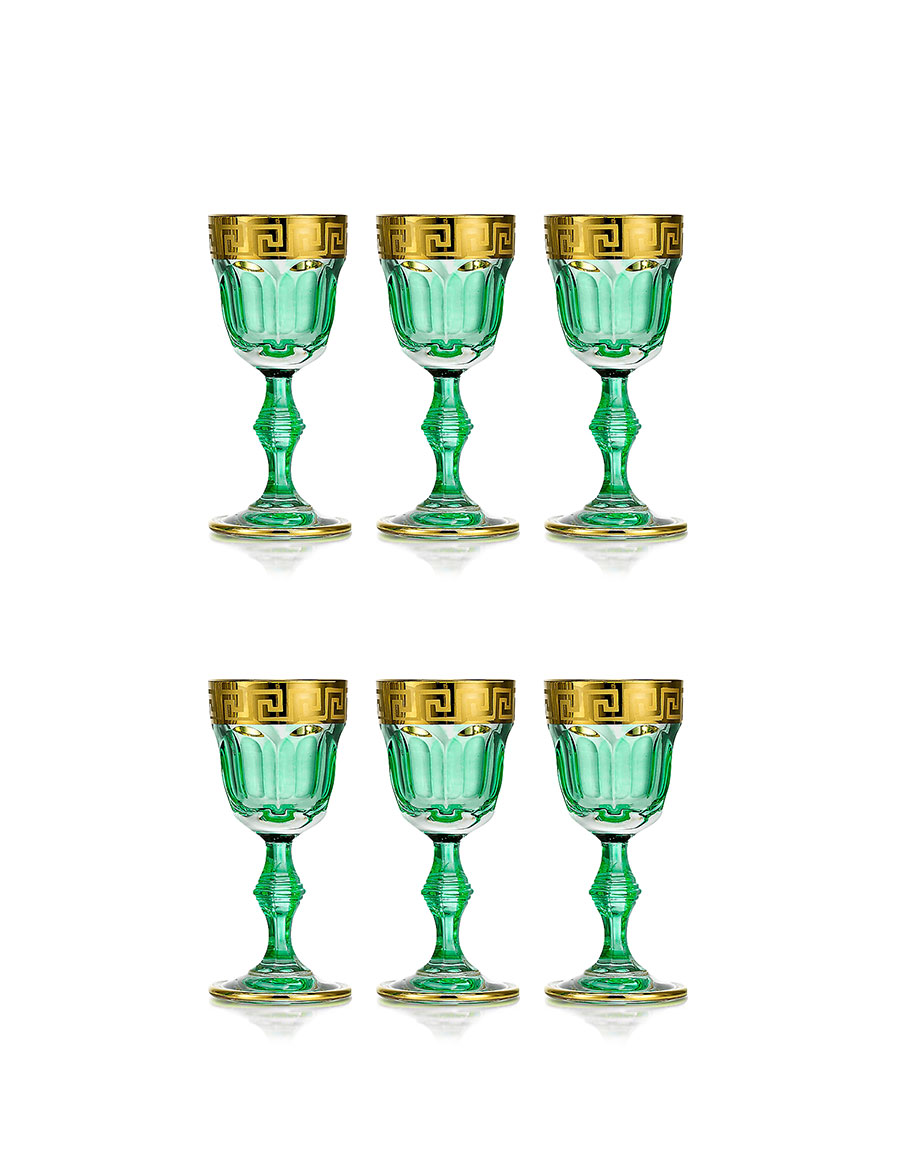 FORZIERI Zecchin Set of 6 Cordial Glasses