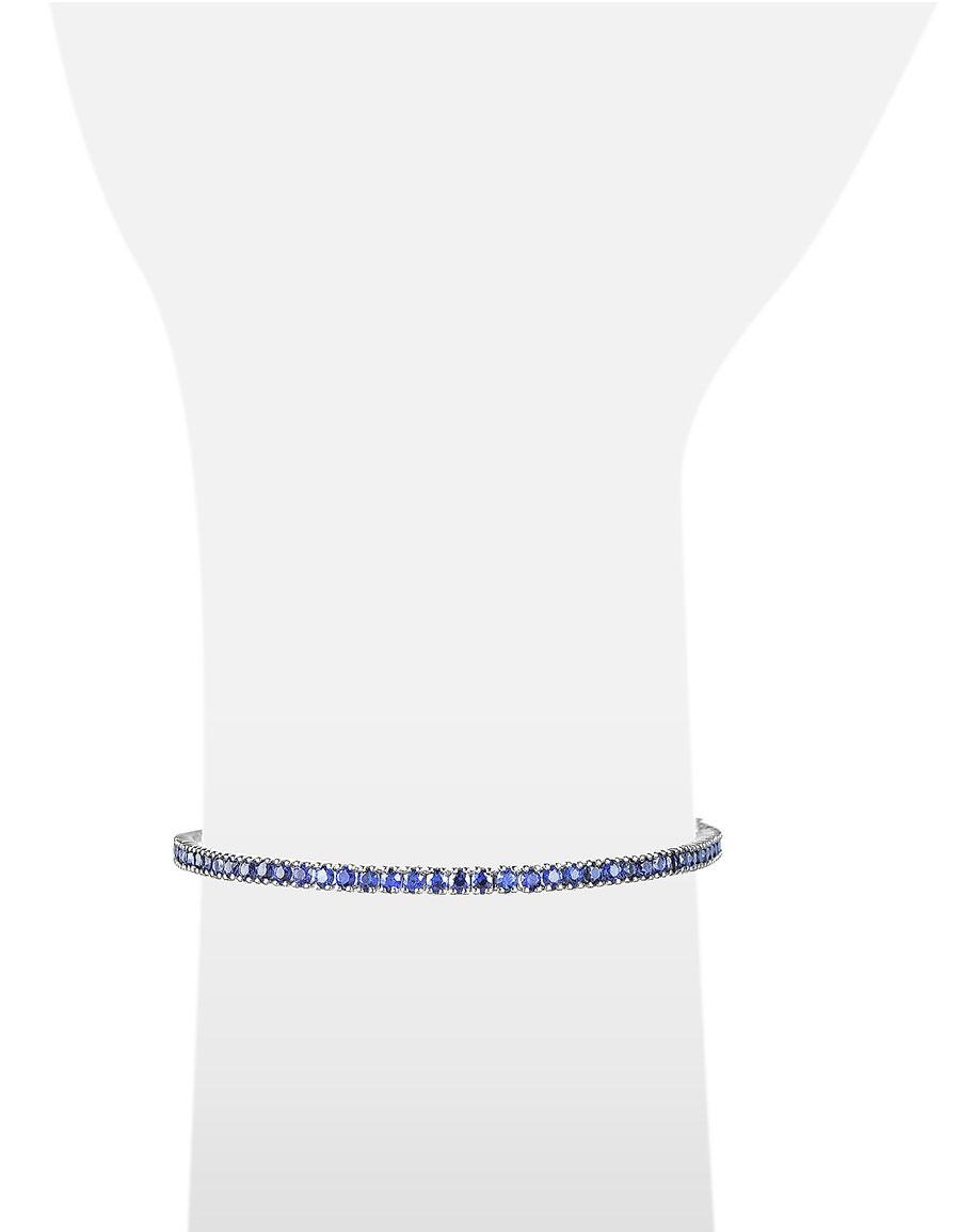 FORZIERI Blue Sapphire 18K Gold Tennis Bracelet