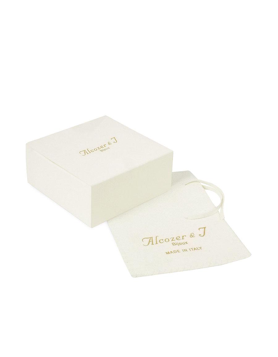 ALCOZER & J Golden Brass, Gemstones with Little Angels Brooch