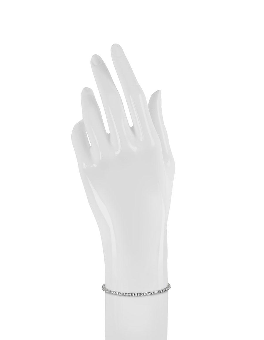 FORZIERI 1.56 ctw Diamond 18K White Gold Tennis Bracelet