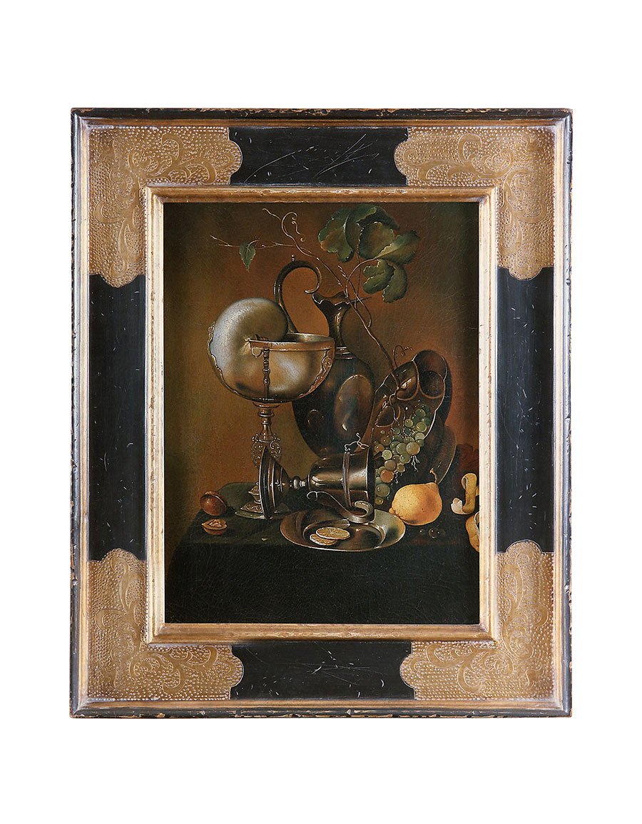 BIANCHI ARTE Oil on Canvas Still Life Painting
