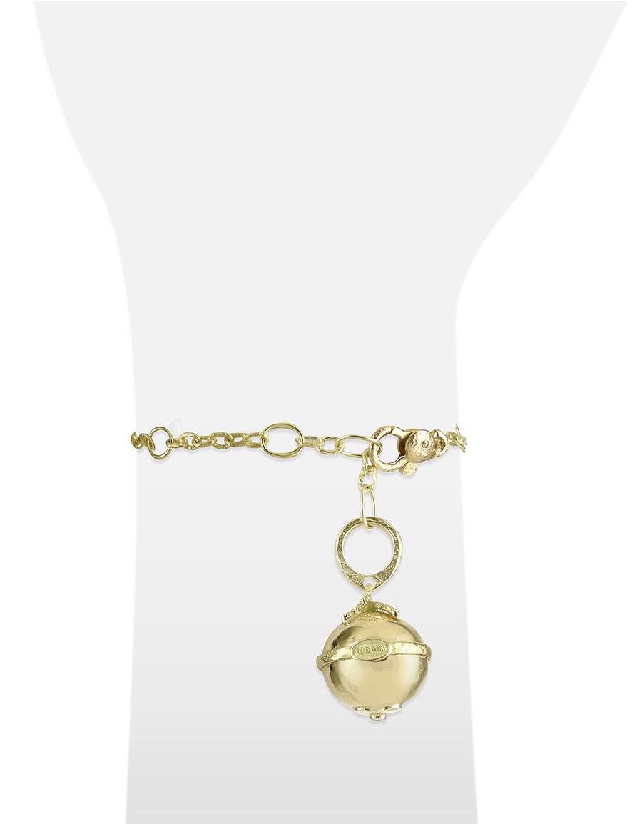 TORRINI Ball 18K Gold and Diamond Charm Bracelet