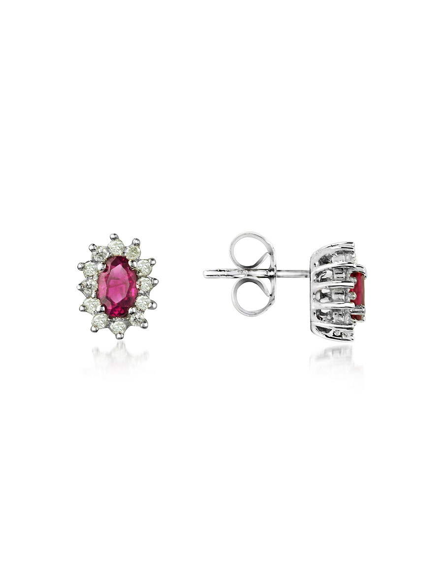 INCANTO ROYALE Ruby and Diamond 18K Gold Earrings