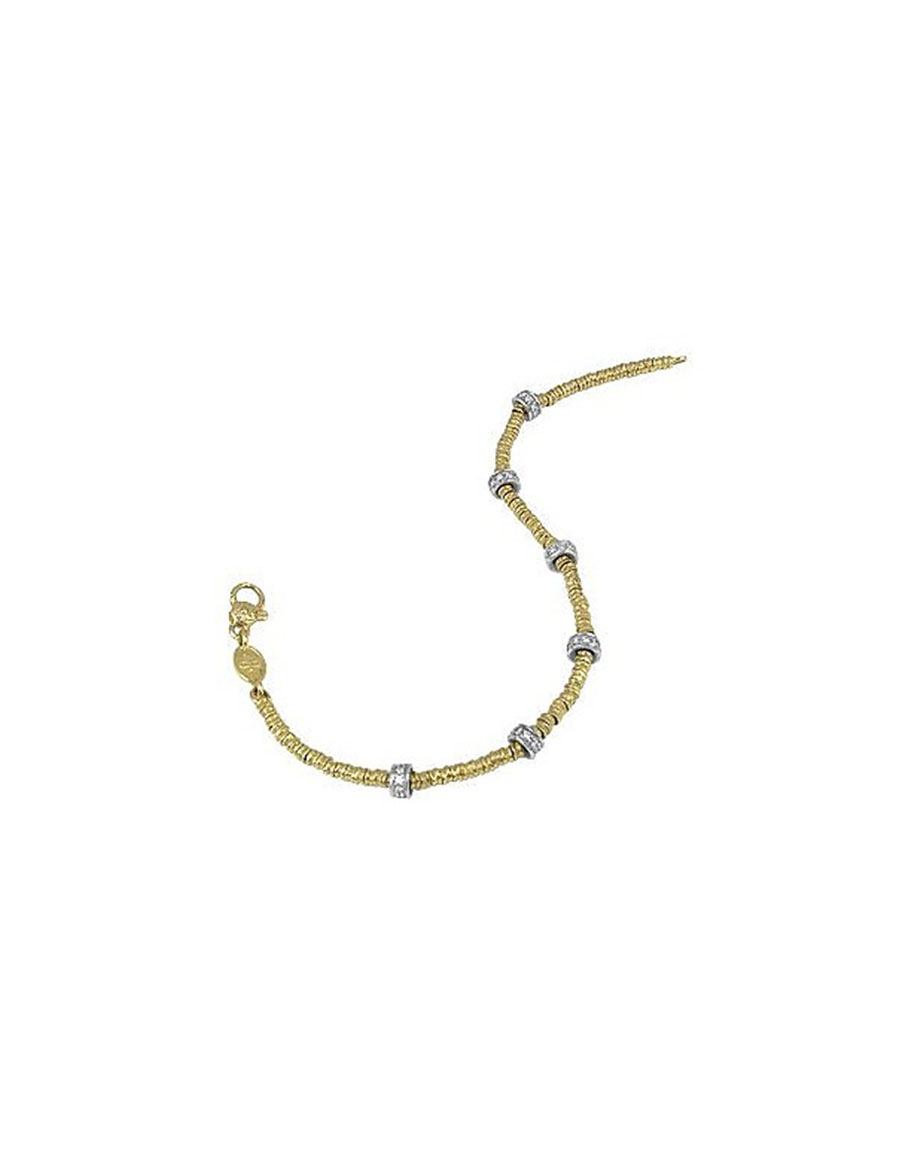 TORRINI Rondelle Moving Mini 18K Gold and Diamond Chain Bracelet