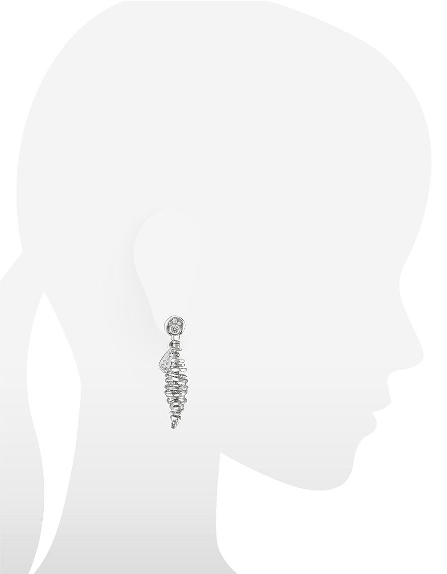 ORLANDO ORLANDINI Galaxy 18K White Gold Drop Earrings