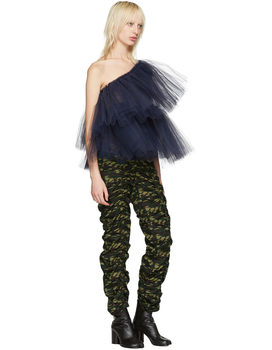 MOLLY GODDARD Green Camo Cleo Trousers