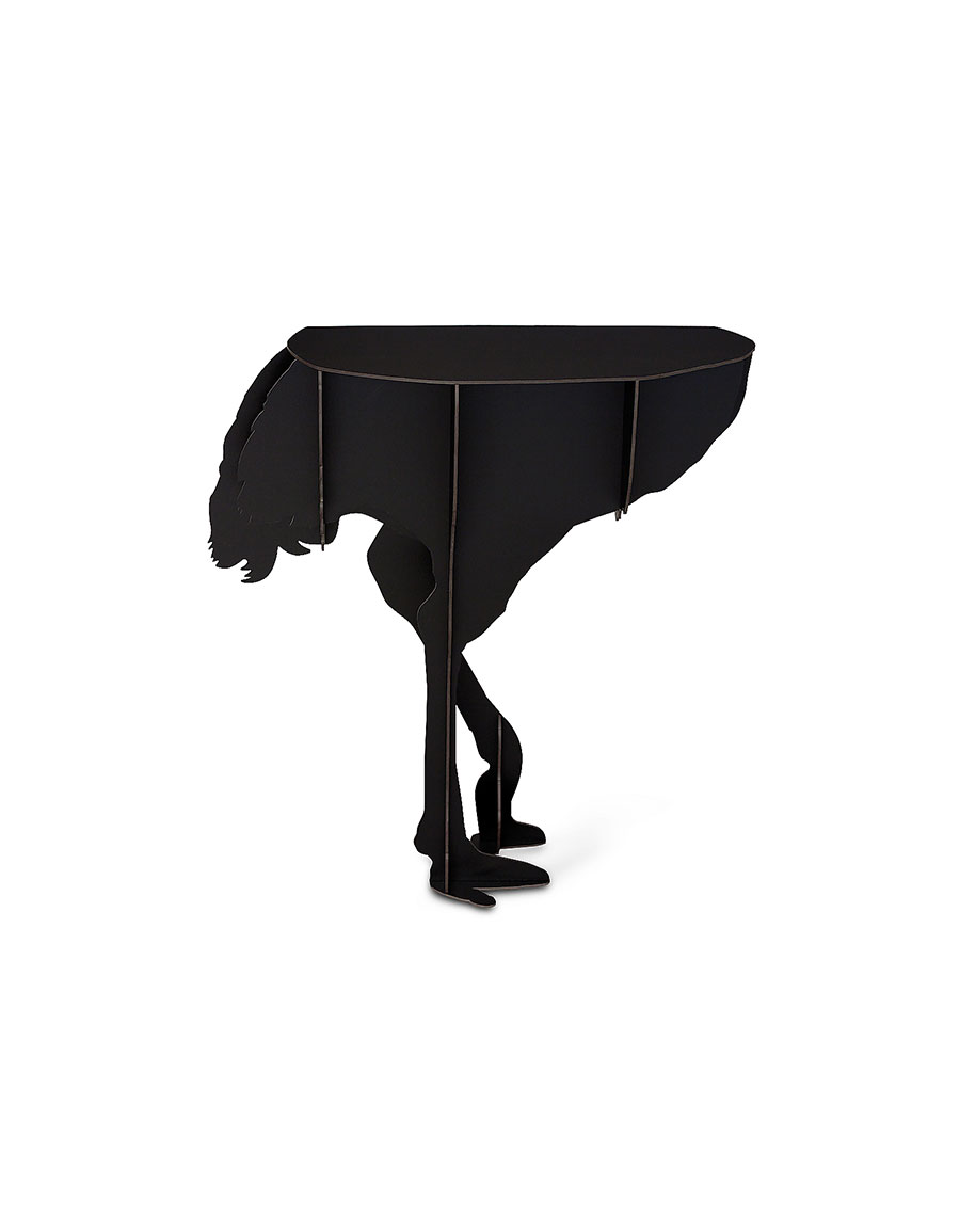 IBRIDE Diva Ostrich Wall Table