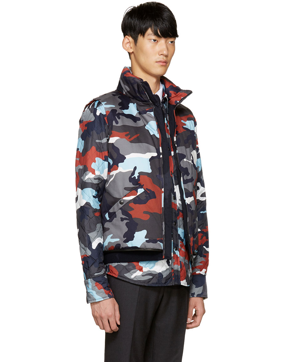 MONCLER Multicolor Down Camo Vest