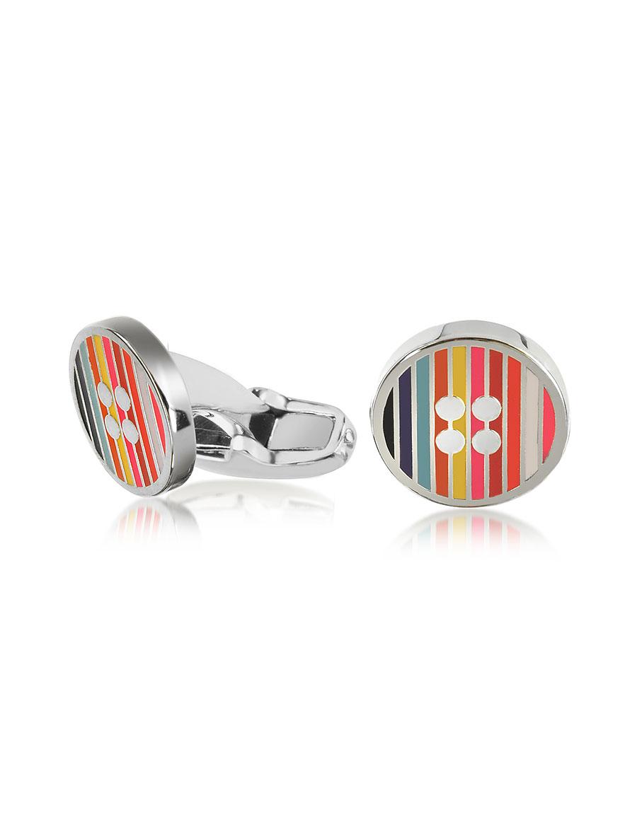 PAUL SMITH Men's Signature Stripe Button Cufflinks