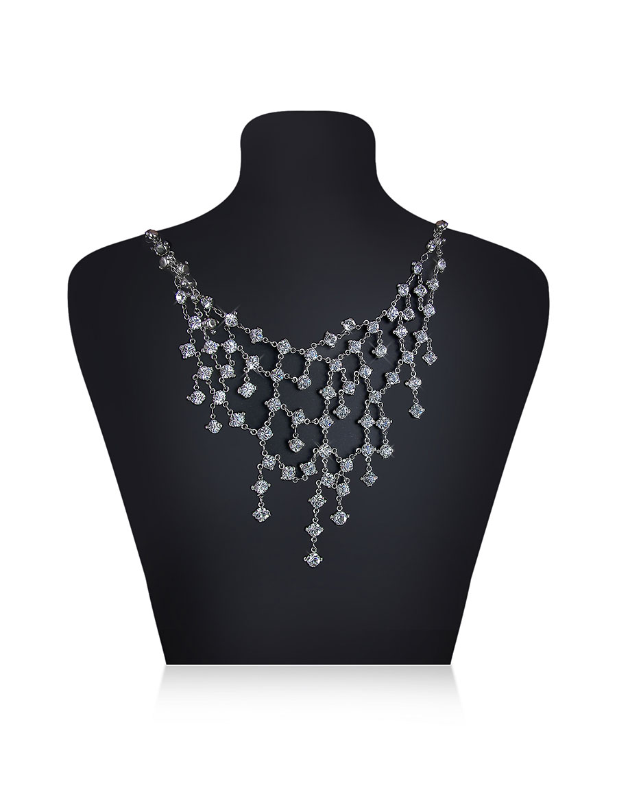 EVATINI Crystal Web Necklace