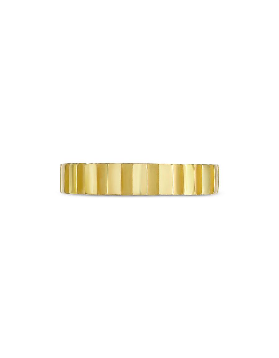 TORRINI Stripes 18k Yellow Gold Band Ring