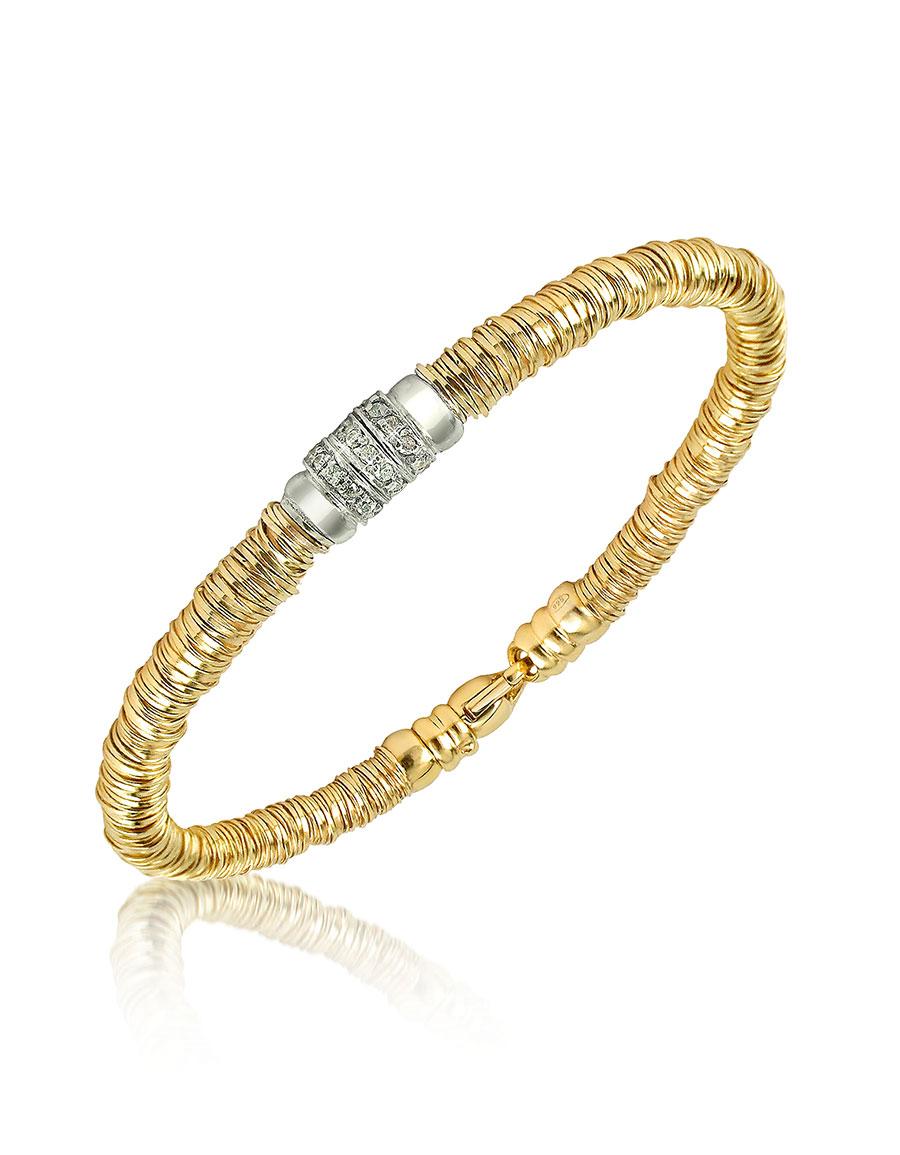 ORLANDO ORLANDINI Capriccio Diamond 18K Gold Chain Snake Bracelet