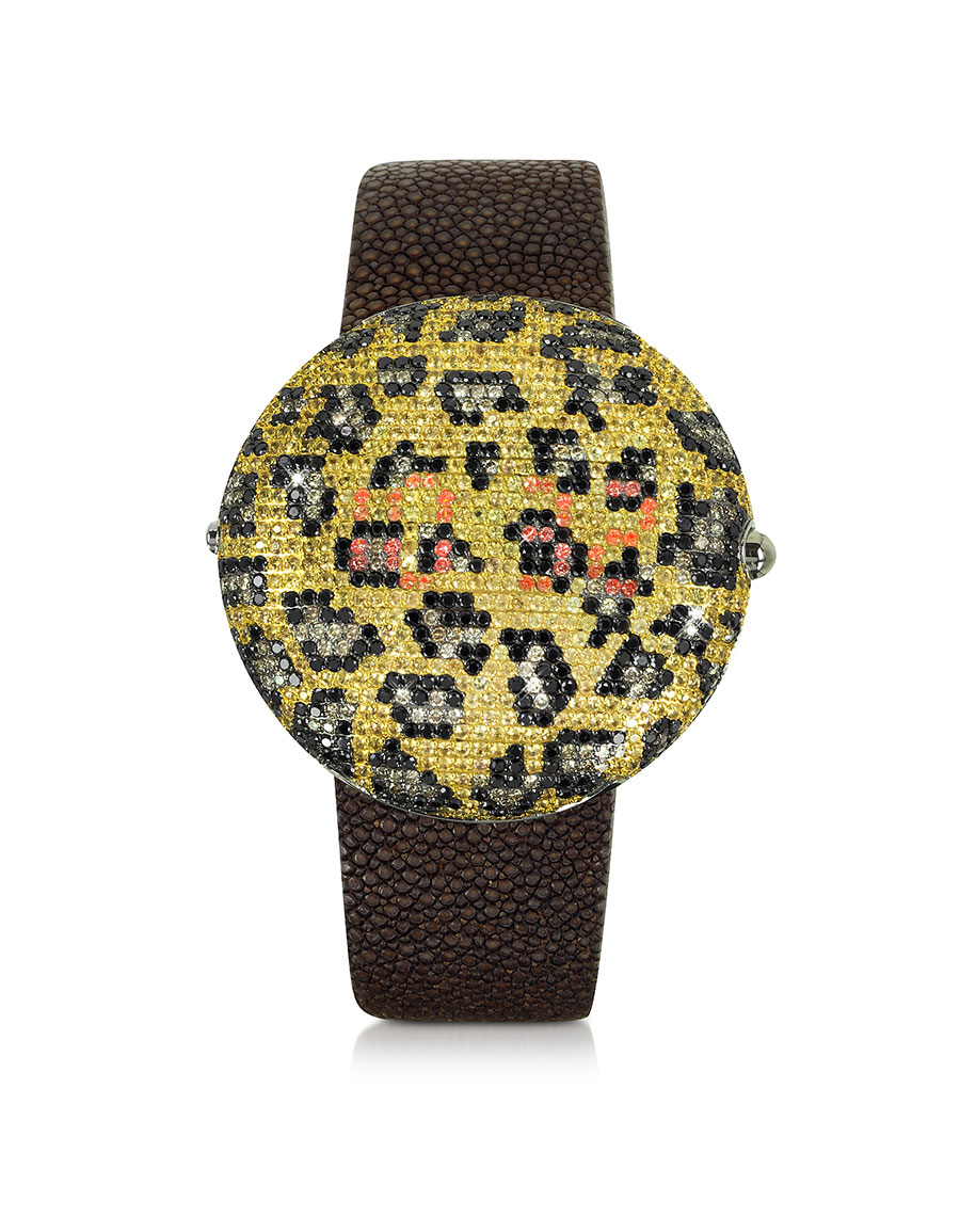 CHRISTIAN KOBAN Clou Leopard Diamond Dinner Watch