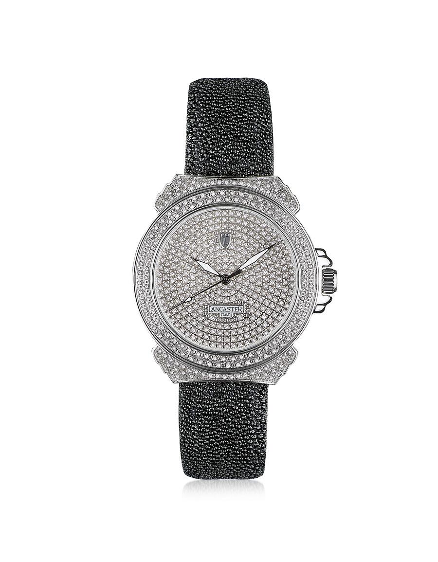 LANCASTER Pillola Deco' Women's Watch w/Diamonds
