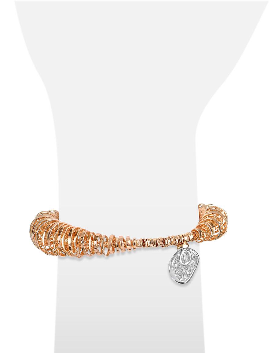 ORLANDO ORLANDINI Galaxy Diamond Charm 18K Rose Gold Bracelet