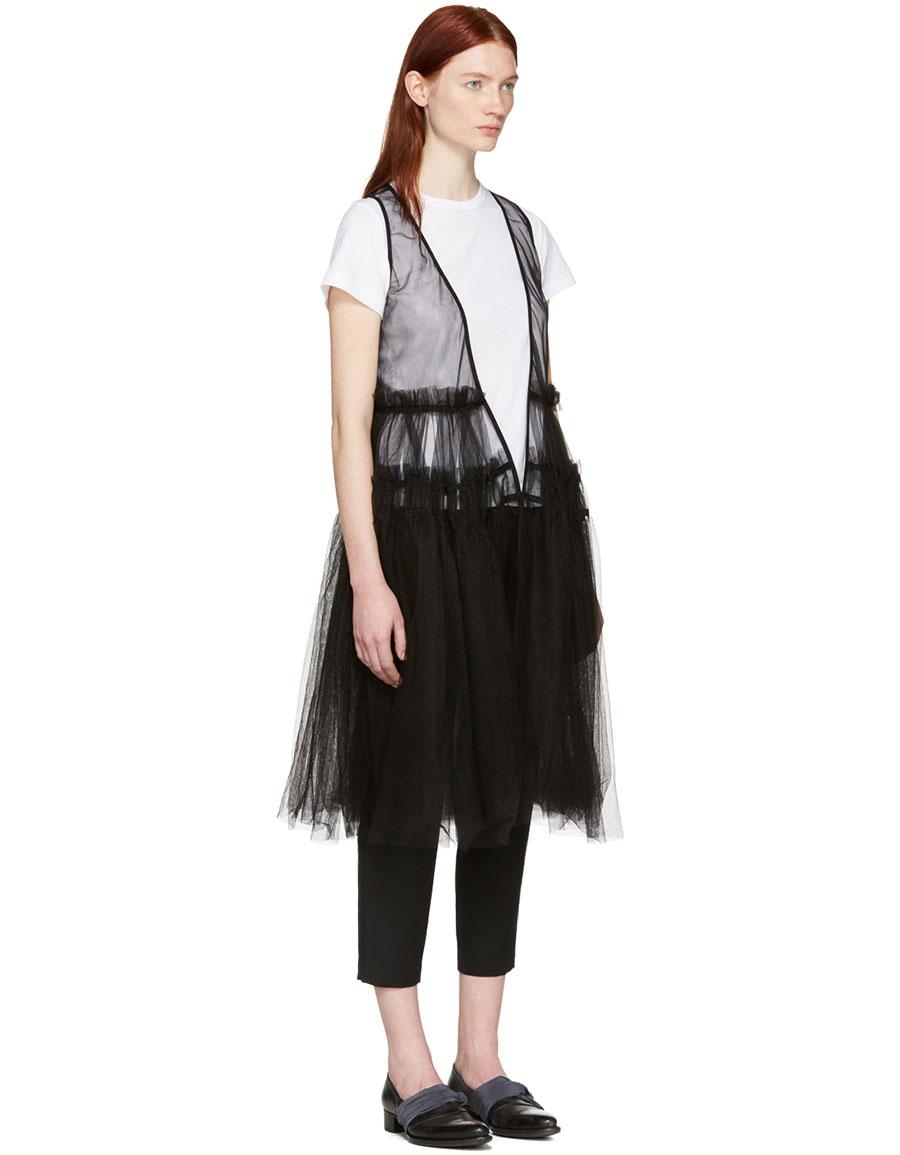 CHIKA KISADA Black Tulle Vest