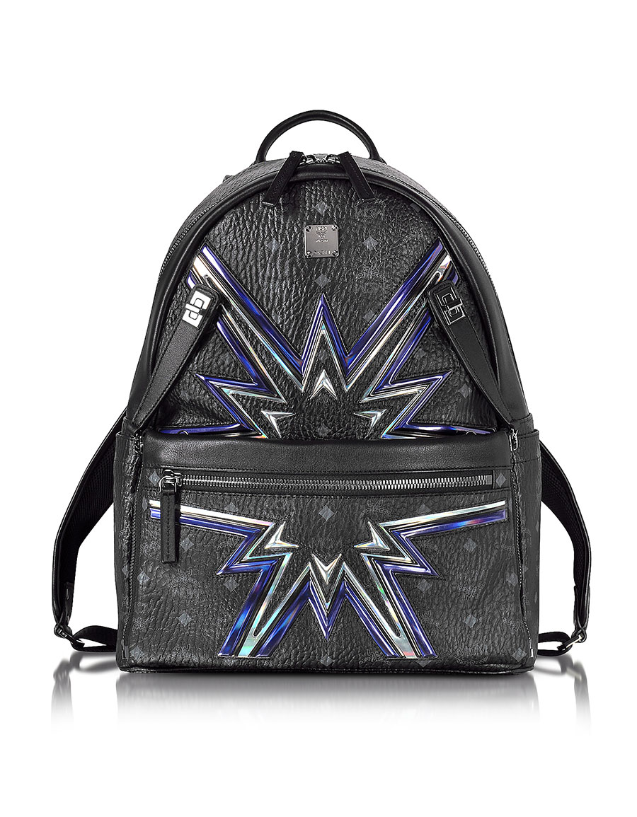 MCM Black Medium D S Cyber Flash Backpack