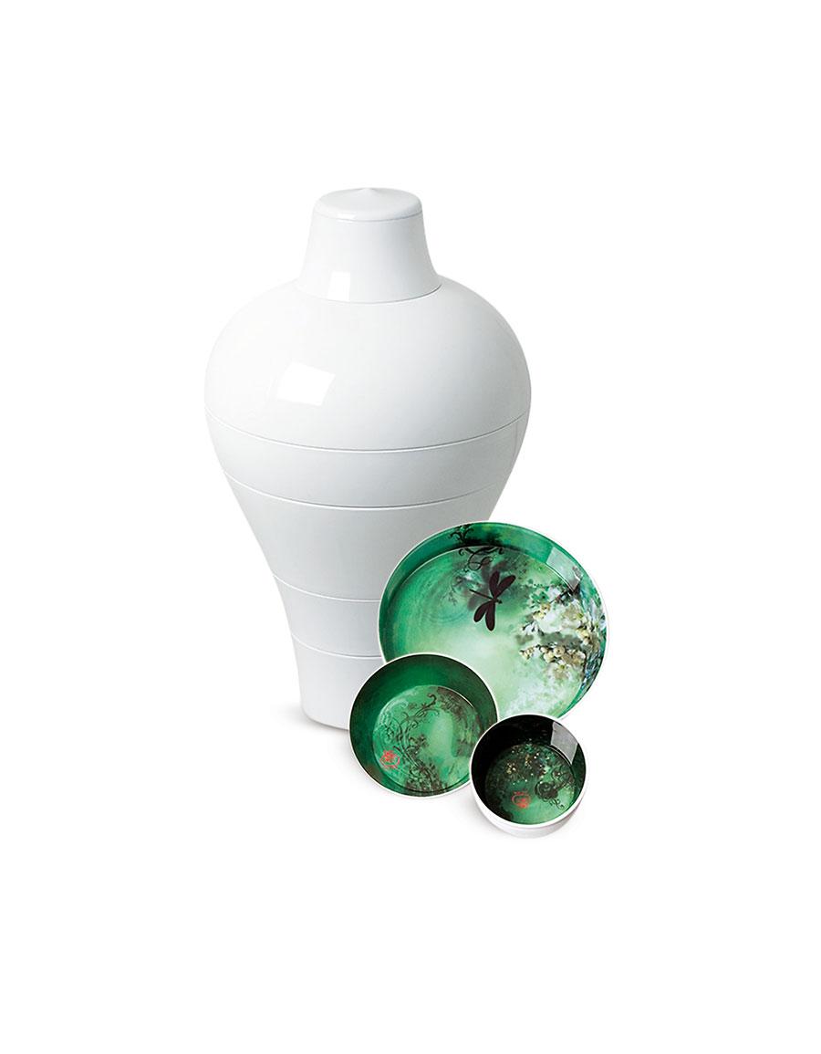 IBRIDE White Ming Vase / Stackable Bowls