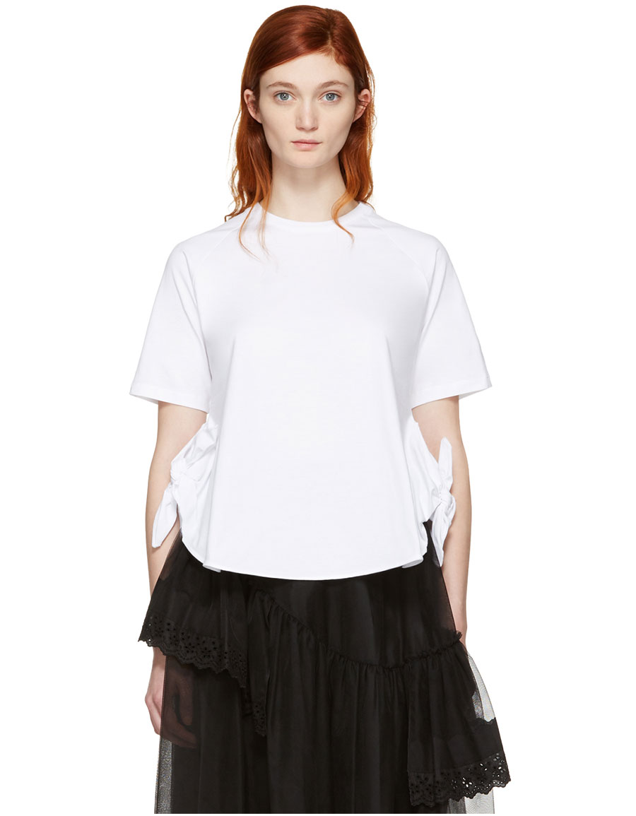 SIMONE ROCHA White Two Knot T Shirt