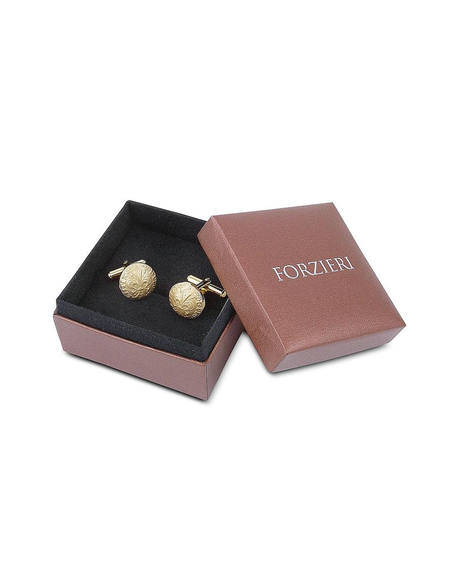 FORZIERI Fleur de Lis Gold Plated Cufflinks