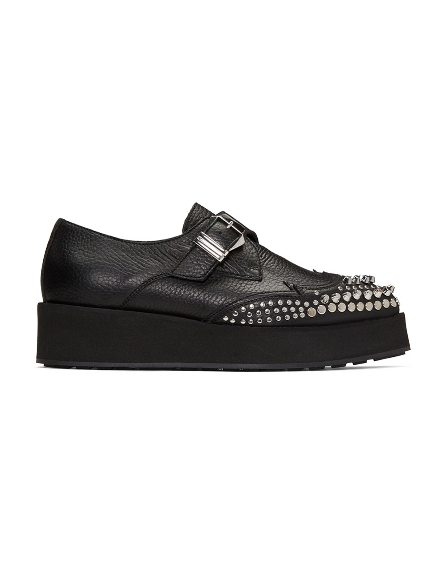 ALEXANDER MCQUEEN Black Manor Creeper Monkstraps