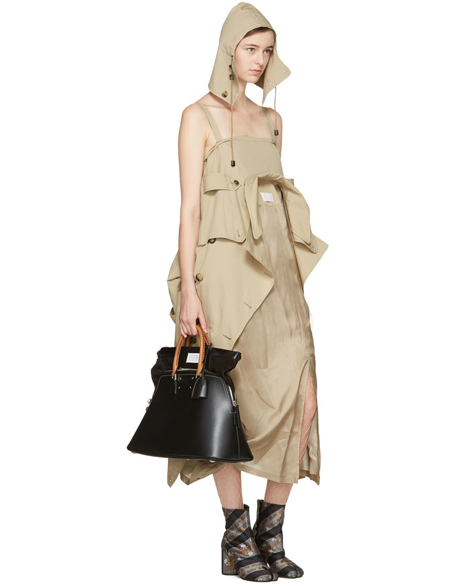 MAISON MARGIELA Beige Oversized Trench Dress