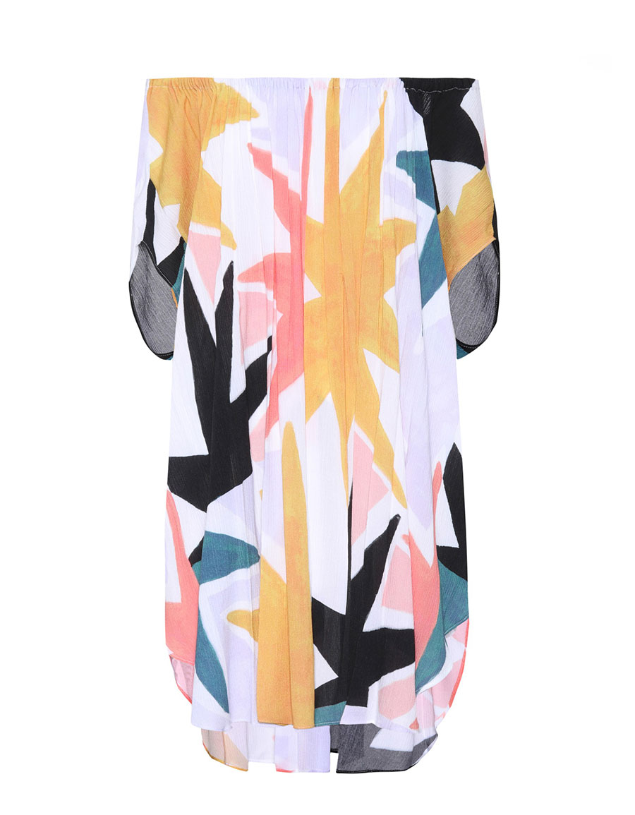 MARA HOFFMAN Dashiki printed off the shoulder dress