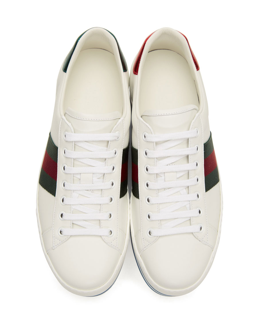 GUCCI White Ace Platform Sneakers